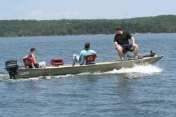 kids fishing w boat