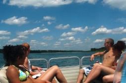 teens boating